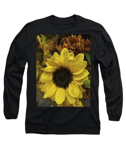 Bright Bouquet Long Sleeve T-Shirt by Arlene Carmel