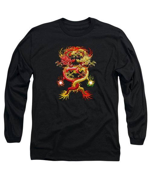 Brotherhood Of The Snake - The Red And The Yellow Dragons Long Sleeve T-Shirt