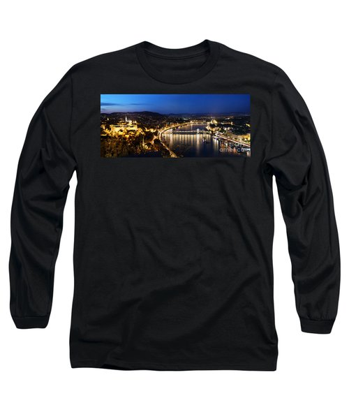 Budapest. View From Gellert Hill Long Sleeve T-Shirt