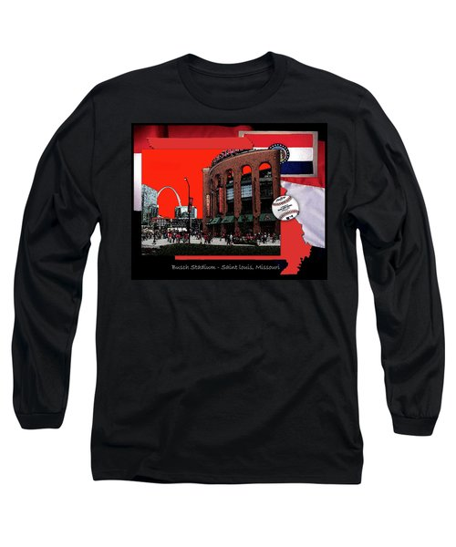 Long Sleeve T-Shirt featuring the photograph Busch Stadium Saint Louis Missouri by John Freidenberg