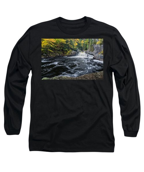 Buttermilk Falls Gulf Hagas Me. Long Sleeve T-Shirt