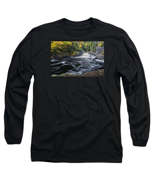 Buttermilk Falls Gulf Hagas Me. Long Sleeve T-Shirt