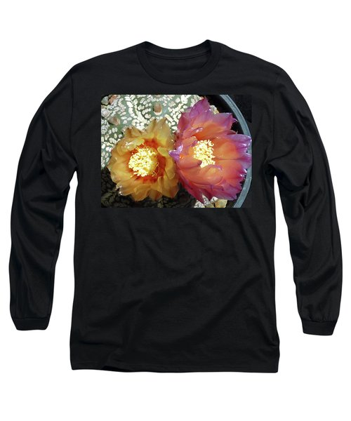 Cactus Flower 3 Long Sleeve T-Shirt by Selena Boron