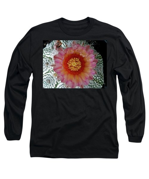 Cactus Flower 5 Long Sleeve T-Shirt by Selena Boron