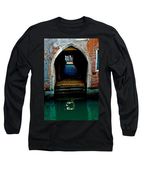 Canal Entrance Long Sleeve T-Shirt by Harry Spitz