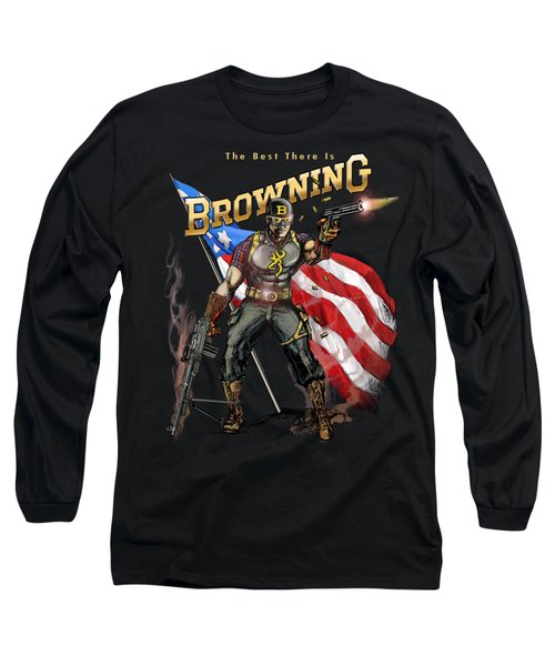 Captain Browning Long Sleeve T-Shirt by Rob Corsetti