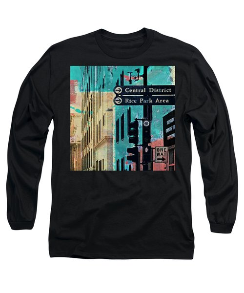 Long Sleeve T-Shirt featuring the photograph Central District by Susan Stone