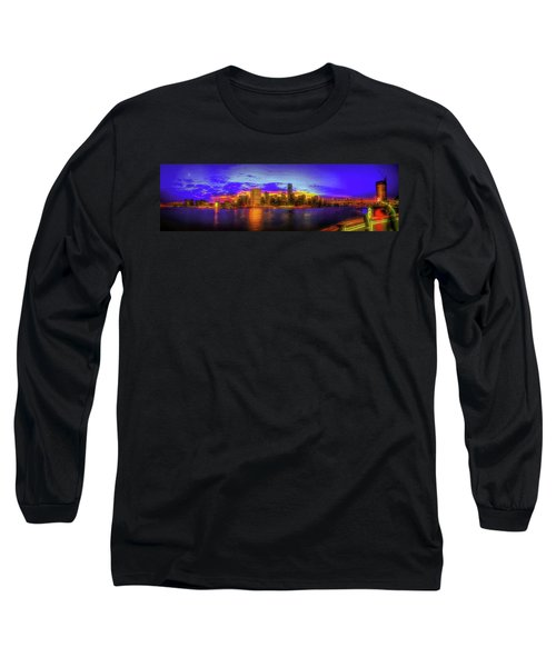 Long Sleeve T-Shirt featuring the photograph Chillin' At Gantry by Theodore Jones