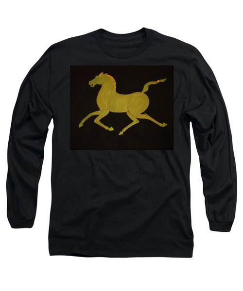 Chinese Horse #2 Long Sleeve T-Shirt by Stephanie Moore