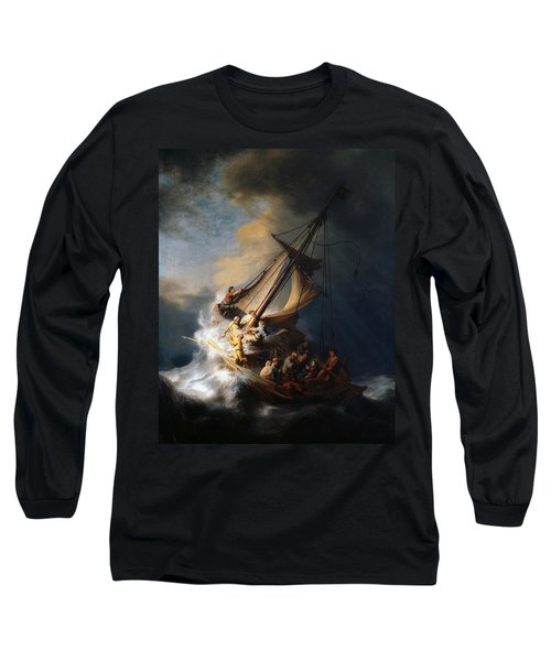 Christ In The Storm On The Lake Of Galilee Long Sleeve T-Shirt