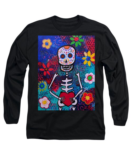 Corazon Day Of The Dead Long Sleeve T-Shirt