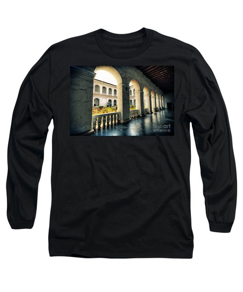 Corridor Long Sleeve T-Shirt by Charuhas Images