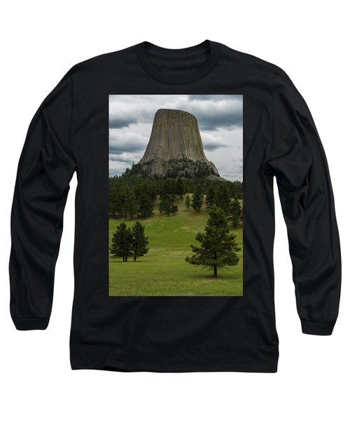 Long Sleeve T-Shirt featuring the photograph Devil's Tower by Gary Lengyel