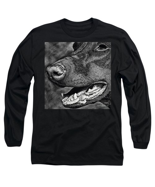 Doberman Face Long Sleeve T-Shirt