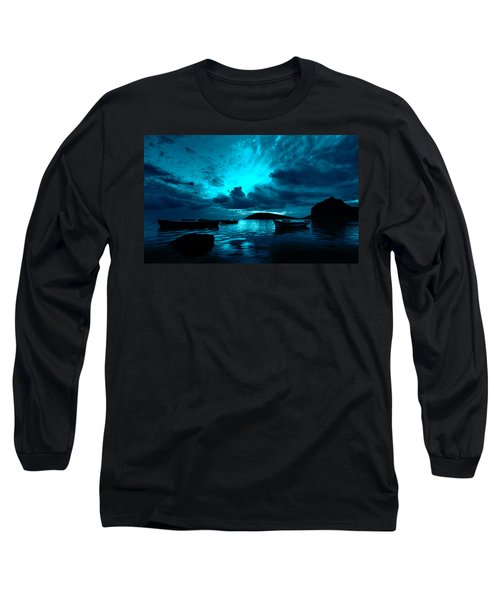 Docked At Dusk Long Sleeve T-Shirt