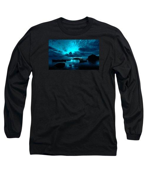 Docked At Dusk Long Sleeve T-Shirt
