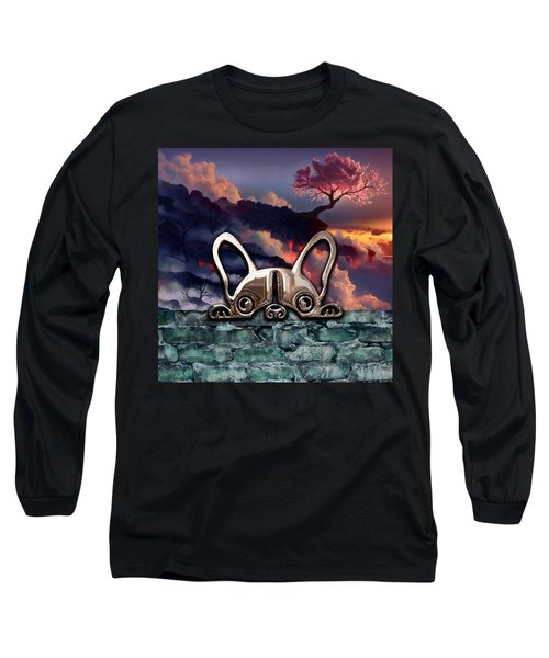 dog and Landscape Collection Long Sleeve T-Shirt by Marvin Blaine