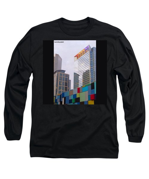#downtown #houston From #discoverygreen Long Sleeve T-Shirt