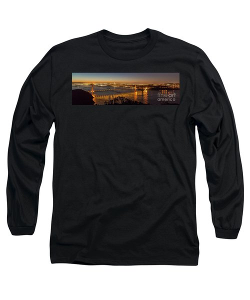 Downtown San Francisco And Golden Gate Bridge Just Before Sunris Long Sleeve T-Shirt