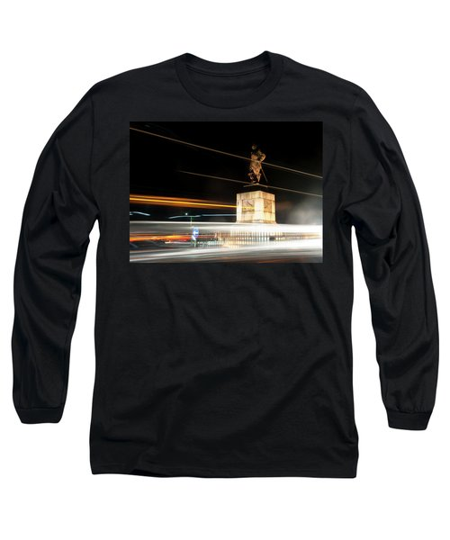 Drake's Statue Traffic Trails Iv Long Sleeve T-Shirt