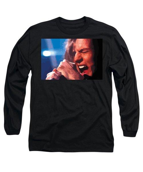 Eddie Vedder Long Sleeve T-Shirt by Gordon Dean II