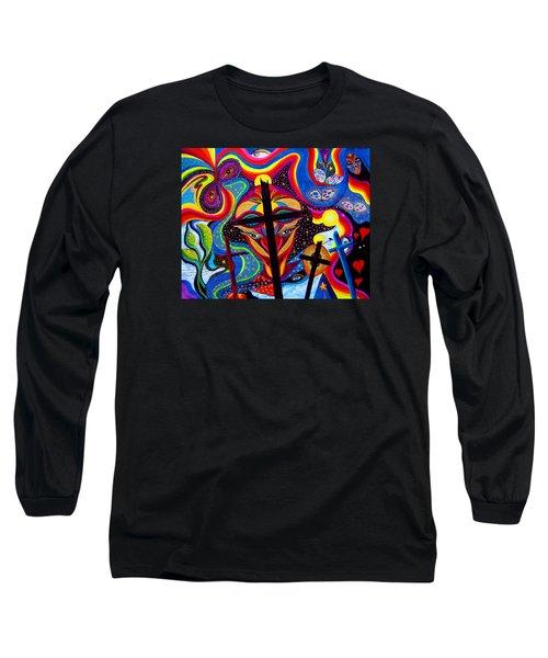Crosses To Bear Long Sleeve T-Shirt by Marina Petro
