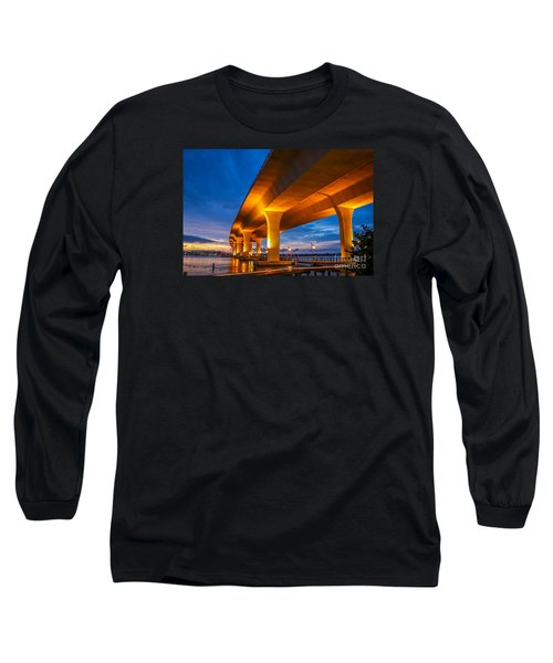 Evening On The Boardwalk Long Sleeve T-Shirt by Tom Claud