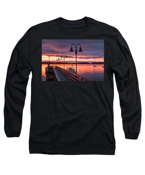 Falmouth Town Landing Sunrise Long Sleeve T-Shirt