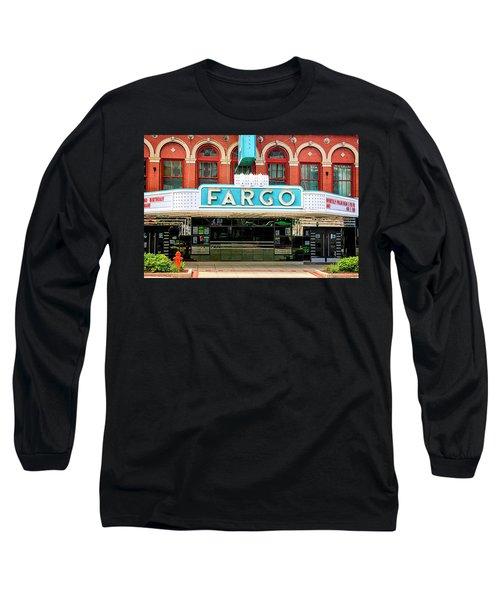 Fargo Blue Theater Sign Long Sleeve T-Shirt