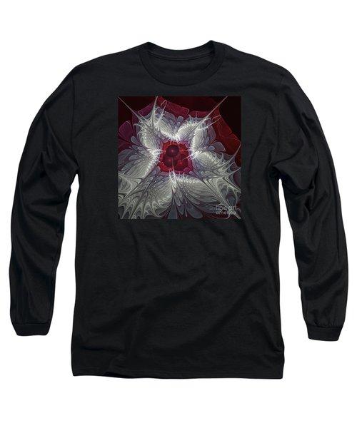 Long Sleeve T-Shirt featuring the digital art Festive Star by Karin Kuhlmann