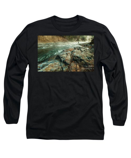 Long Sleeve T-Shirt featuring the photograph Fishing Day by Iris Greenwell
