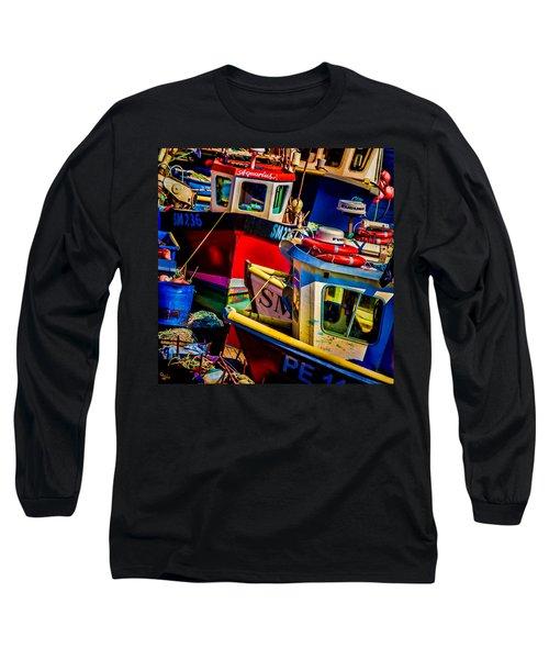 Fishing Fleet Long Sleeve T-Shirt by Chris Lord