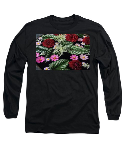 Long Sleeve T-Shirt featuring the photograph Floating Flower Bouquet by Byron Varvarigos