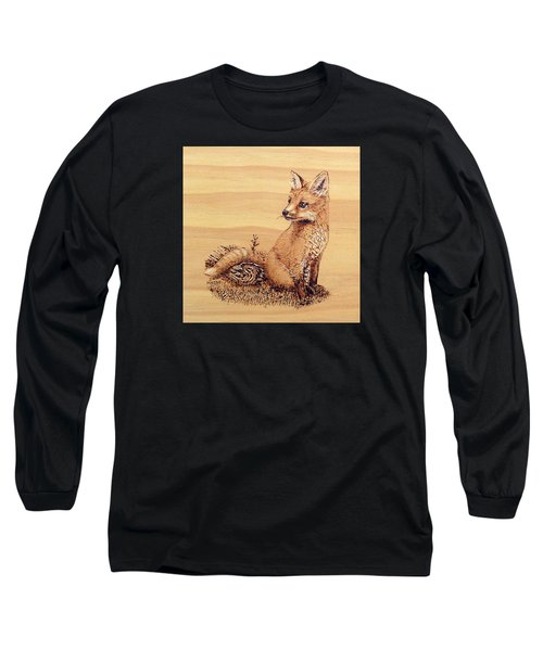 Fox Long Sleeve T-Shirt by Ron Haist