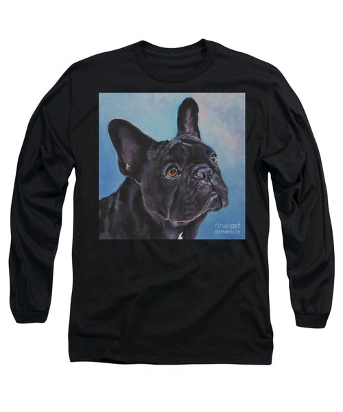 Long Sleeve T-Shirt featuring the painting French Bulldog by Lee Ann Shepard