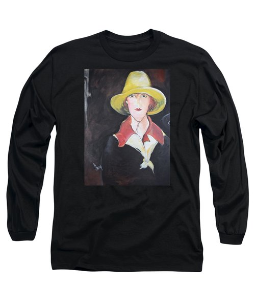 Girl In Riding Hat Long Sleeve T-Shirt by Gary Smith