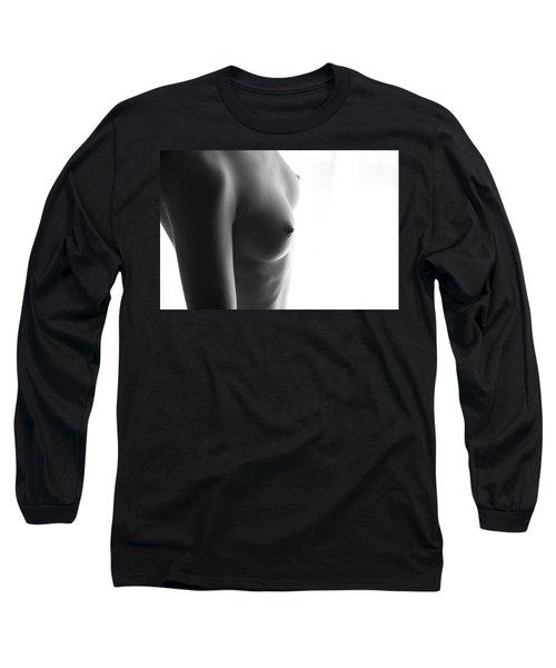 Girls Torso In Front Of Window Long Sleeve T-Shirt