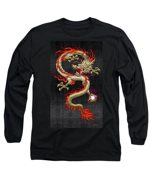 Golden Chinese Dragon Fucanglong  Long Sleeve T-Shirt