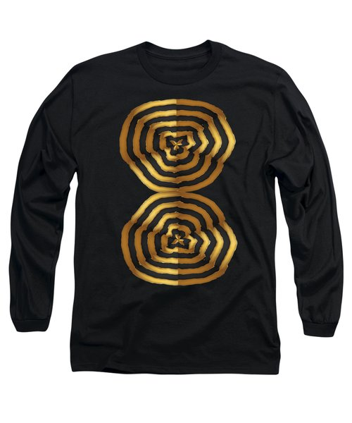 Golden Waves Hightide Natures Abstract Colorful Signature Navinjoshi Fineartartamerica Pixels Long Sleeve T-Shirt by Navin Joshi