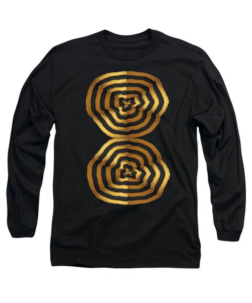 Golden Waves Hightide Natures Abstract Colorful Signature Navinjoshi Fineartartamerica Pixels Long Sleeve T-Shirt