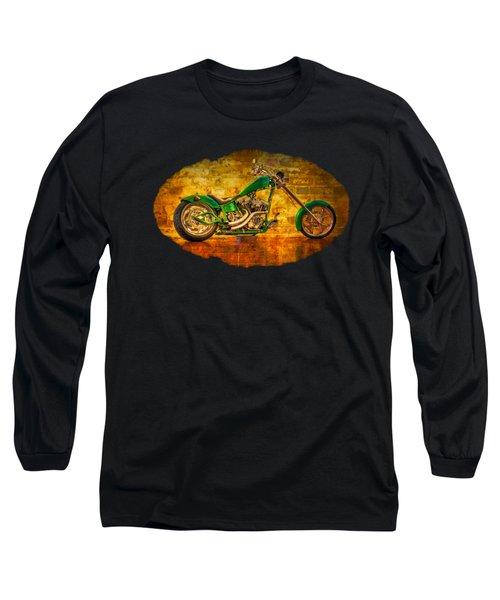 Green Chopper Long Sleeve T-Shirt by Debra and Dave Vanderlaan