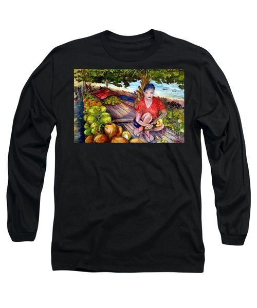 Green Coconut Cafe. Long Sleeve T-Shirt