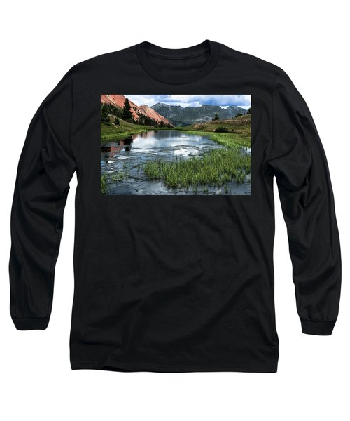 Long Sleeve T-Shirt featuring the photograph Grey Copper Gulch by Jay Stockhaus
