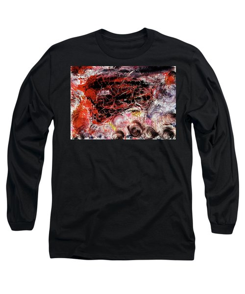 Long Sleeve T-Shirt featuring the painting Harmony by Michael Lucarelli