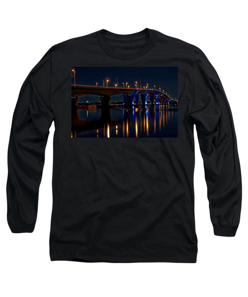Hathaway Bridge At Night Long Sleeve T-Shirt