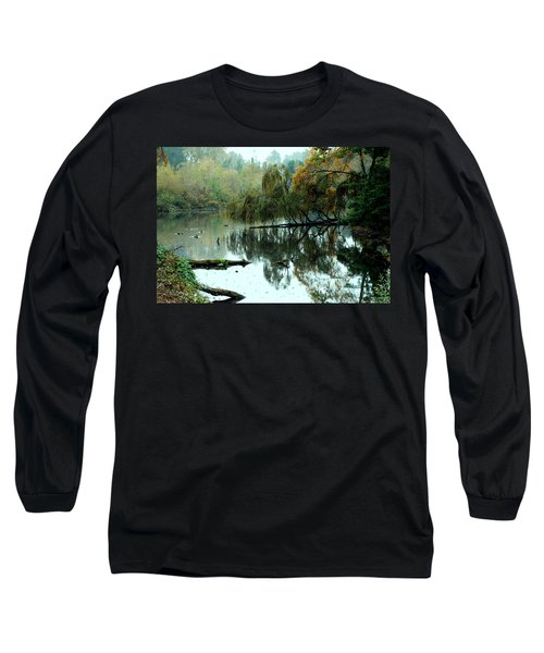 Hidden Lake Long Sleeve T-Shirt by Kathleen Grace