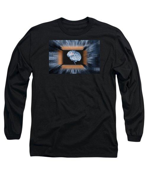 Human Brain And Communication Long Sleeve T-Shirt by Christian Lagereek