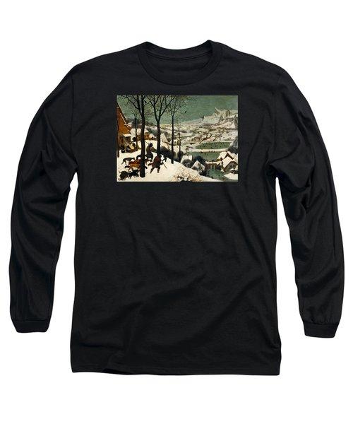 Hunters In The Snow Long Sleeve T-Shirt by Pieter Bruegel the Elder