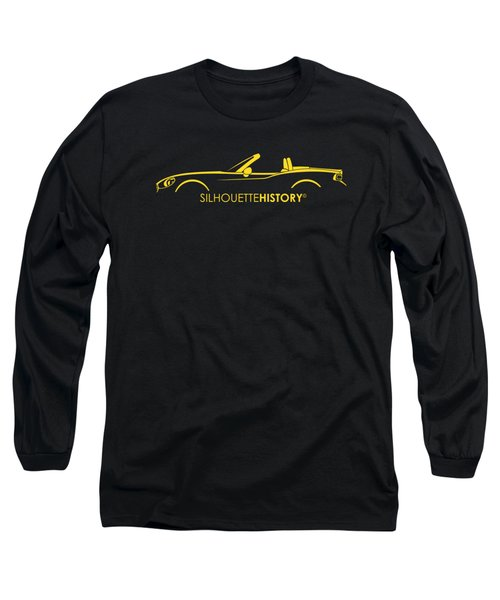 Italian Roadster Silhouettehistory Long Sleeve T-Shirt by Gabor Vida