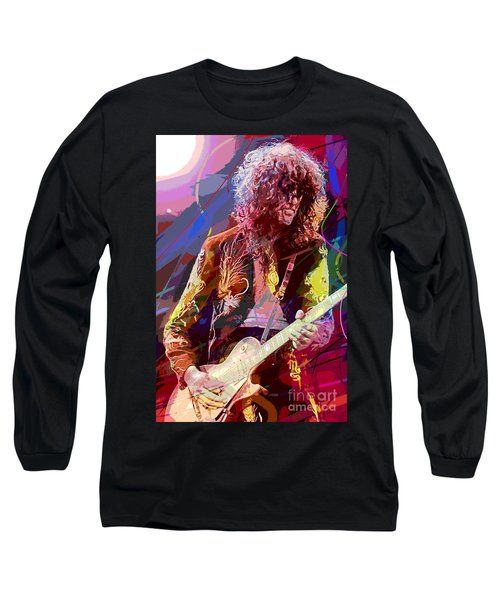 Jimmy Page Les Paul Gibson Long Sleeve T-Shirt